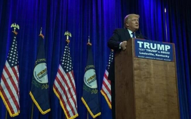 Trump está à frente na disputa entre os pré-candidatos