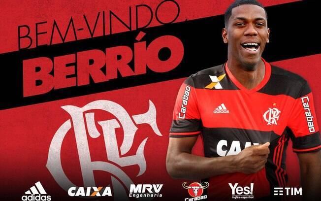 Berrío foi confirmado pelo Flamengo