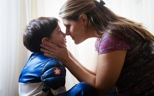 Alessandra e o filho Henrique: