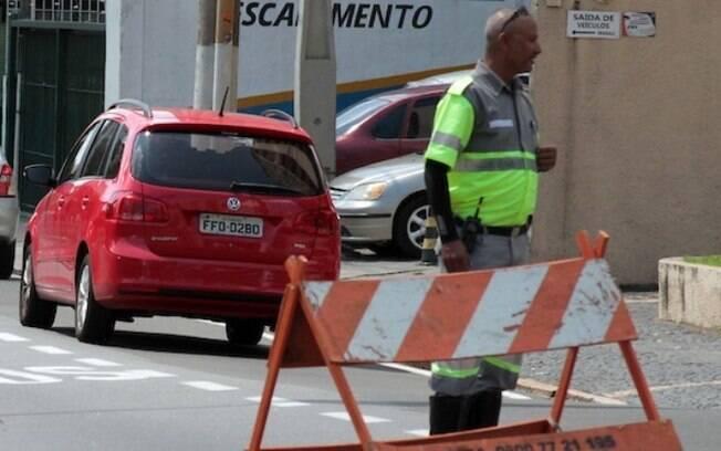 Trecho do Botafogo  bloqueado para obras nesta segunda