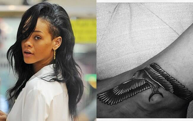 Rihanna mostra sua nova tatuagem no Twitter