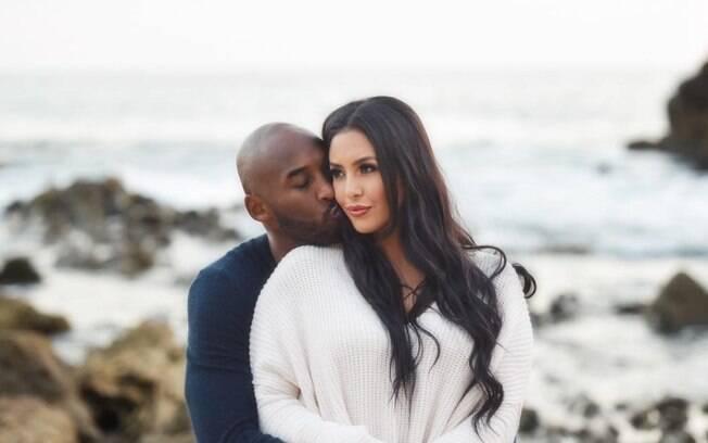 Kobe Bryant e sua esposa Vanessa