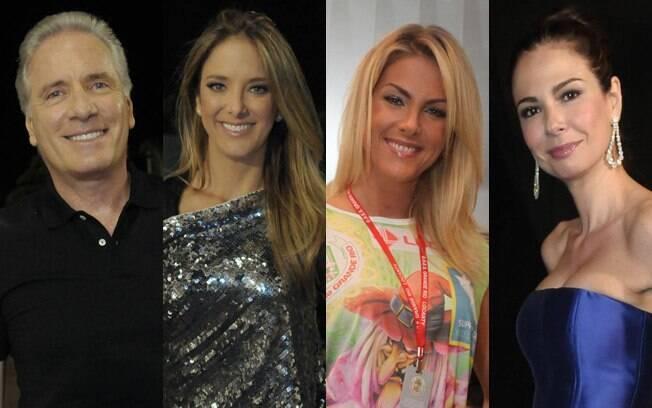 Roberto Justus, Ticiane Pinheiro, Ana Hickmann e Luciana Gimenez vão curtir o carnaval em São Paulo