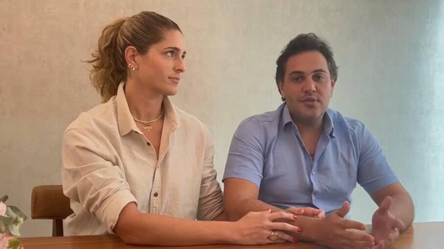 Bruno e Rebeca, os pais da criança envolvida na polêmica com o Pastor André Vitor