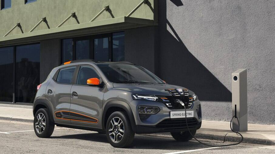 Dacia Spring corresponde à versão elétrica do Renault Kwid, que também será vendida no Brasil