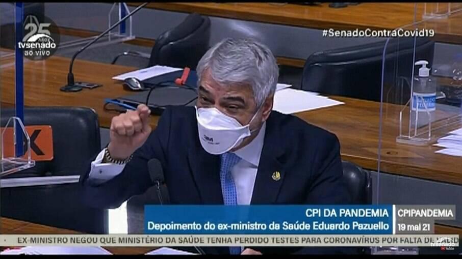 Senador Humberto Costa (PT) na CPI