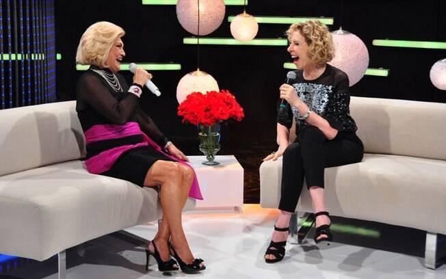 Hebe Camargo entrevistou Marília Gabriela em seu programa na Rede TV!