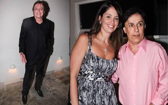 Fábio Jr. e Tom Cavalcanti com a mulher Patrícia