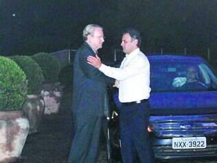Reunião. Lacerda e o senador Aécio Neves conversaram, no fim da tarde de ontem, em Belo Horizonte