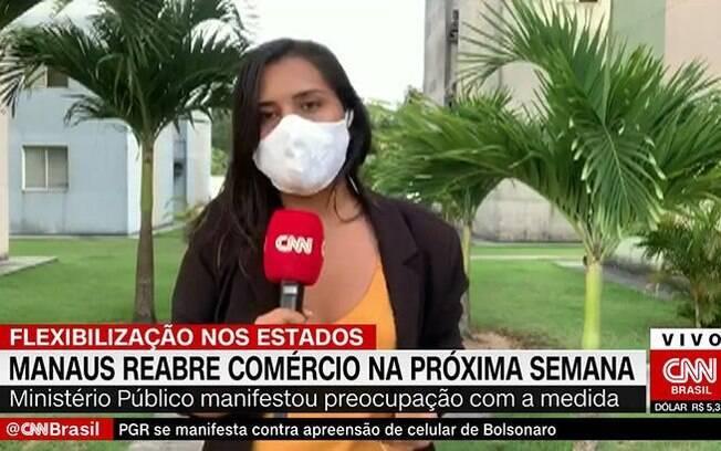 Luciene Kaxinawá, repórter da CNN Brasil, passou mal e desmaiou após link ao vivo