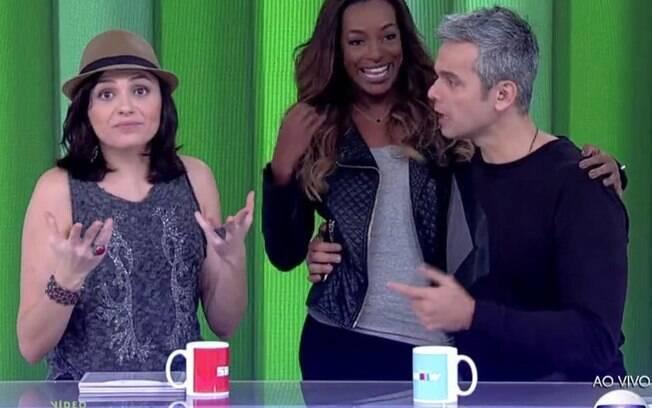 Monica Iozzi, Pathy Dejesus e Otaviano Costa no Vídeo Show