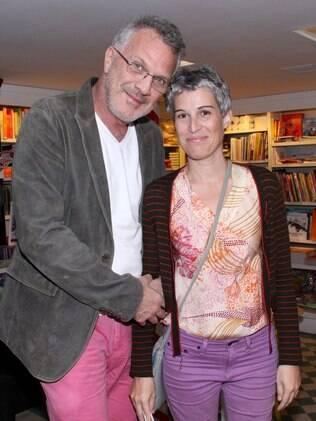 Pedro Bial e Roberta Rodrigues