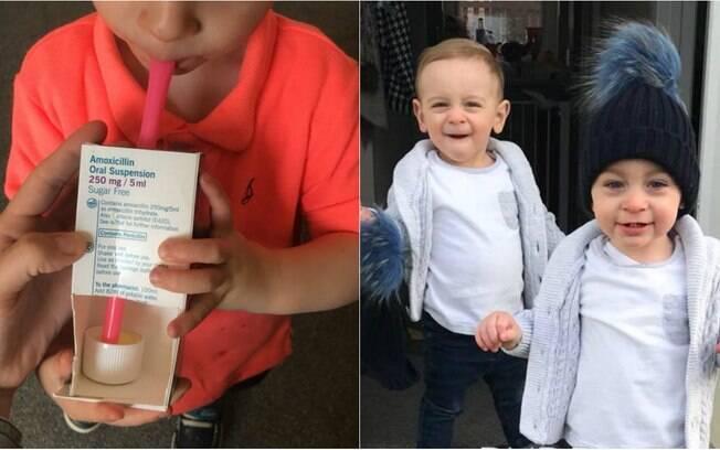 Caryl Mayes está popular entre os pais após divulgar a criativa ideia que teve para dar remédio aos filhos gêmeos