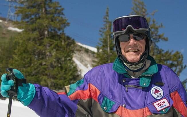 George Jedenoff comemorou a vida longa, saudável e feliz fazendo algo que ama: esquiar
