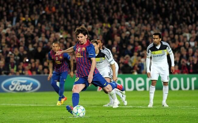 Messi ainda teve a chance de salvar o  Barcelona na semifinal contra o Chelsea da Liga  dos Campeões