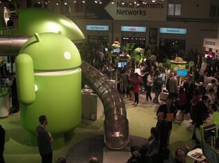 Estande do Android no MWC 2012: sistema cresce em ritmo acelerado