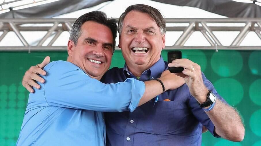 O senador Ciro Nogueira (PP-PI) e o presidente Jair Bolsonaro
