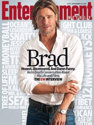 Brad Pitt na capa da