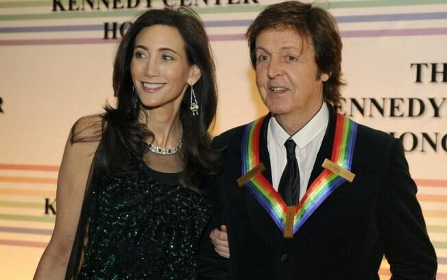 Nancy Shevell e o noivo Paul McCartney
