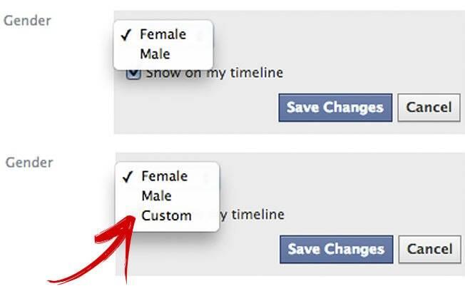 Nova função do Facebook que permite a inserção de gênero além do feminino e masculino