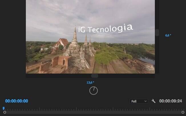 Quando você voltar para o modo de realidade virtual o conteúdo se adaptará para a posição adequada.
