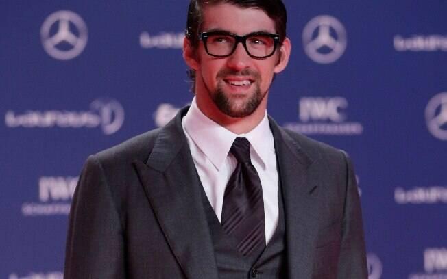 Michael Phelps faturou prêmio por suas  conquistas no Laureus deste ano, no Rio de  Janeiro