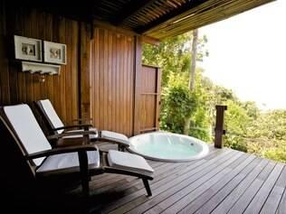 Varanda do hotel Quinta do Bucanero, em Santa Catarina. Fique atento aos detalhes na hora da reserva