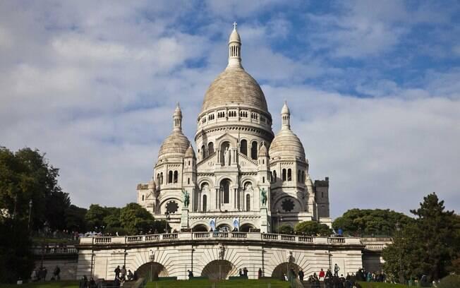 A igreja do Sacre-Coeur, em Montmatre