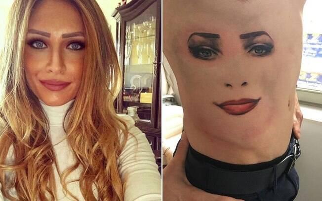 O sérvio Uros Vitas tatuou o rosto da sua mulher. Mas sem o contorno. Estranho%2C né%3F