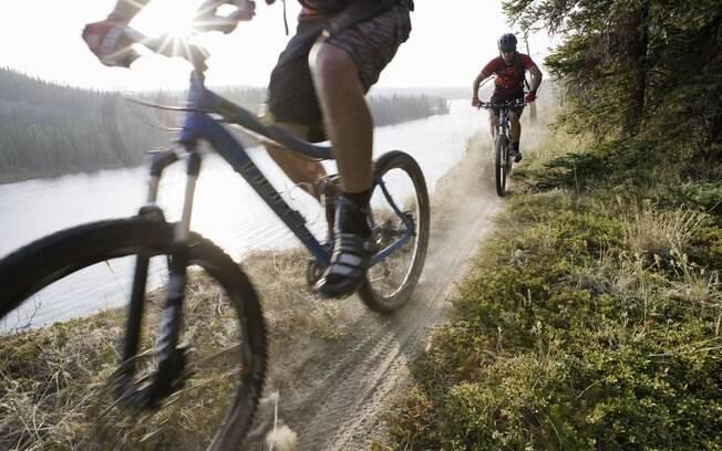Bicicletas urbanas não são aceitas para o trajeto, que exige mountain bike