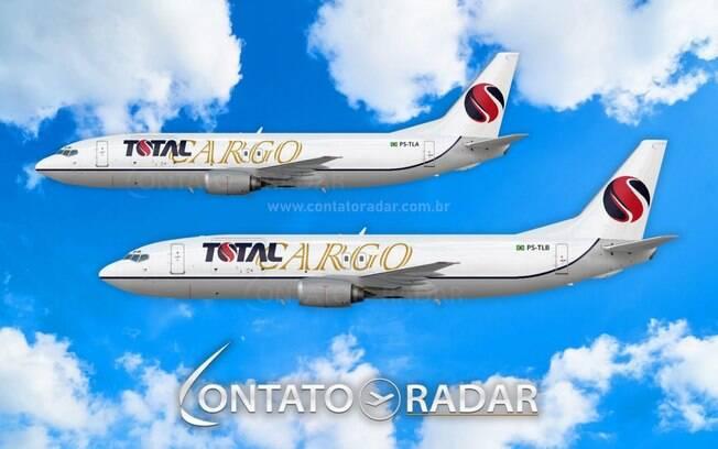 Vdeos mostram futuro Boeing 737 cargueiro da Total Linhas Areas