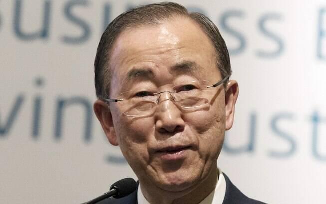 Secretário-Geral da ONU, Ban Ki-moon, durante evento em Seoul, Coréia do Sul