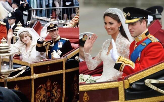 Na saída da igreja foi mantida a tradição: a carruagem, o aceno real...