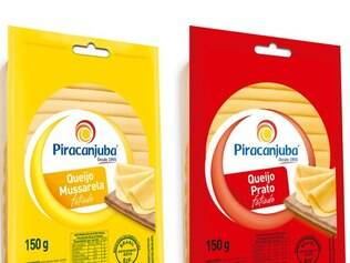Mussarela e queijo prato vêm fatiados, embalados em 150 gramas