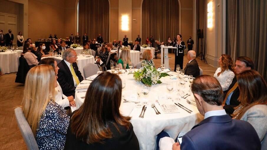 Encontro contou com participação de 40 empresárias, ministros e do presidente Jair Bolsonaro