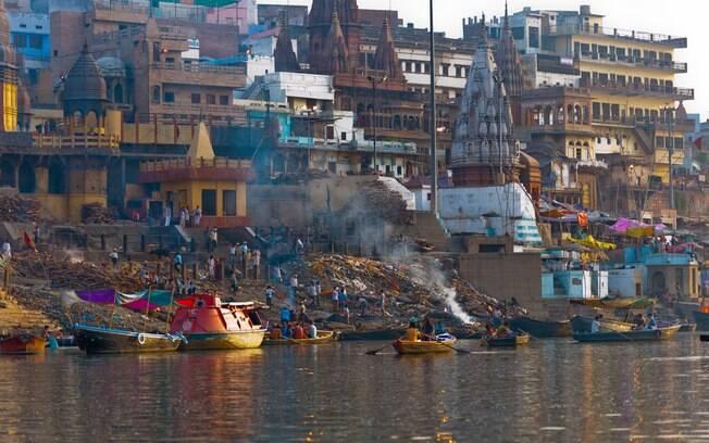 Rio Ganges é um dos lugares mais conhecidos do país