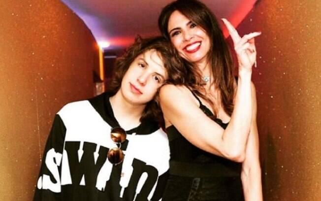 Luciana seu filho com Mick Jagger, Lucas