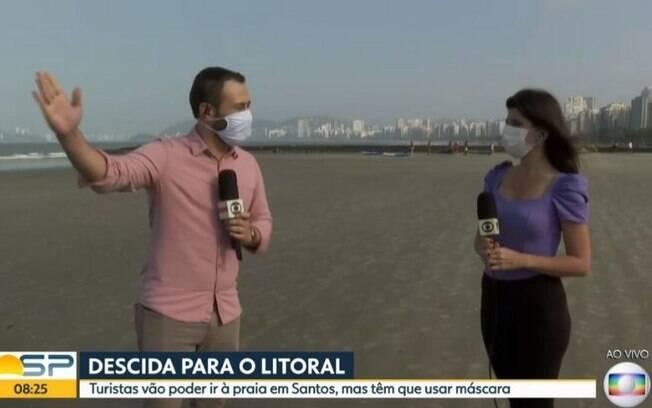 Rômulo D'Ávila contou com a ajuda de outra repórter da Globo