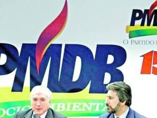 Temer minimizou o fato de parte do PMDB ter resistência à aliança
