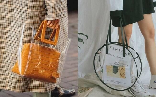 As bolsas e sandálias transparentes estão chamando atenção entre os acessórios mais desejados, além de serem verstáteis