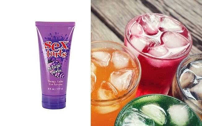 Para quem prefere algo mais docinho, esta opção de lubrificante íntimo tem sabor de refrigerante de uva