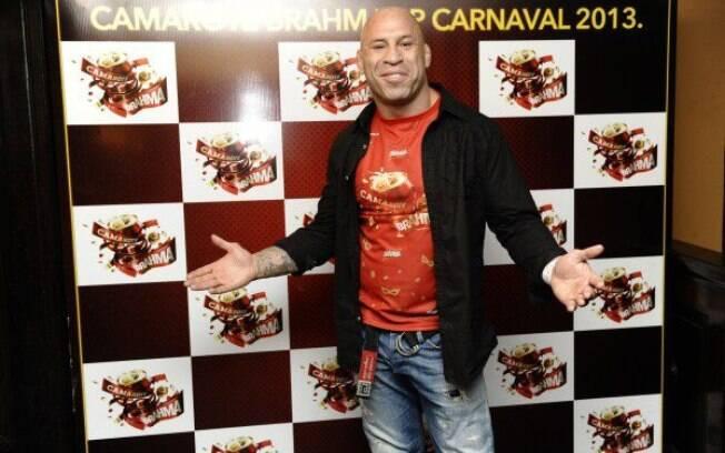 Wanderlei Silva, do UFC, também curtiu o  camarote no Anhembi em São Paulo