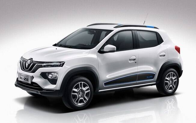 Renault Kwid renovado terá a mesma cara da versão elétrica vendida na China. Mas não há previsão de chegada ao Brasil