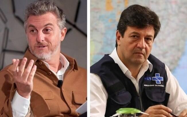 Apresentador Luciano Huck e ex-ministro Luiz Henrique Mandetta são nomes cotado para as eleições de 2022