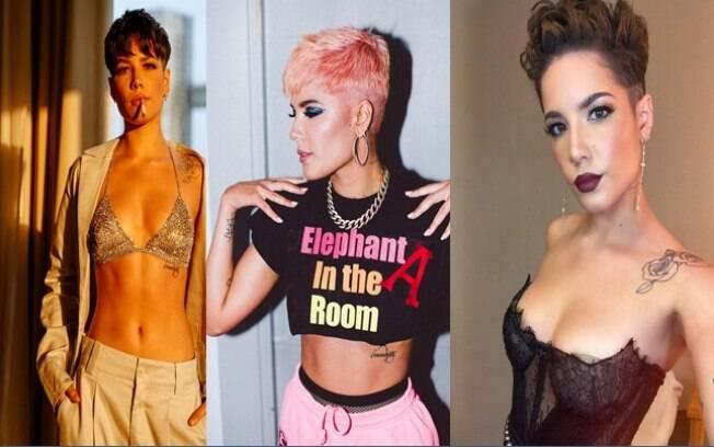 Halsey é uma das famosas que mudaram o visual em 2018