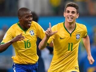 Oscar marcou o terceiro gol da seleção brasileira na vitória sobre a Croácia