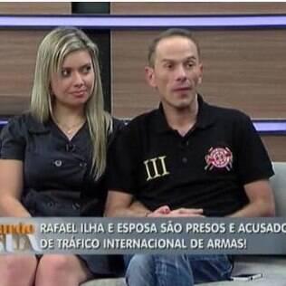 Rafael Ilha e sua mulher, Aline