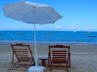 Tranquilidade na areia, em Cumuruxatiba