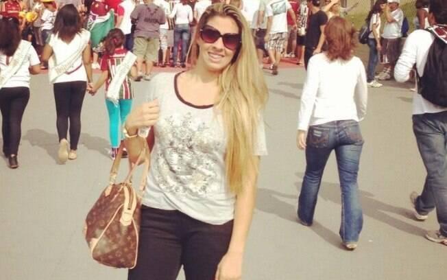 Mariana Moreira, esposa de Jean, criticou a  torcida mineira e ironizou o lateral direito  Marcos Rocha, do Atlético-MG
