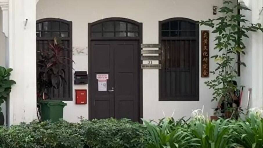 Porta da suposta sede da Madson Biotech, revelada em vídeo pelo The Intercept Brasil